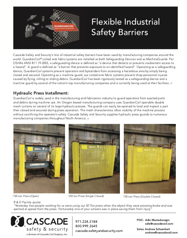 Cascade Industrial Safety Flyer